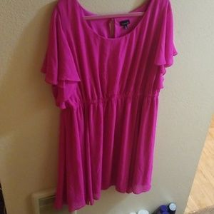 Hot pink flowy dress